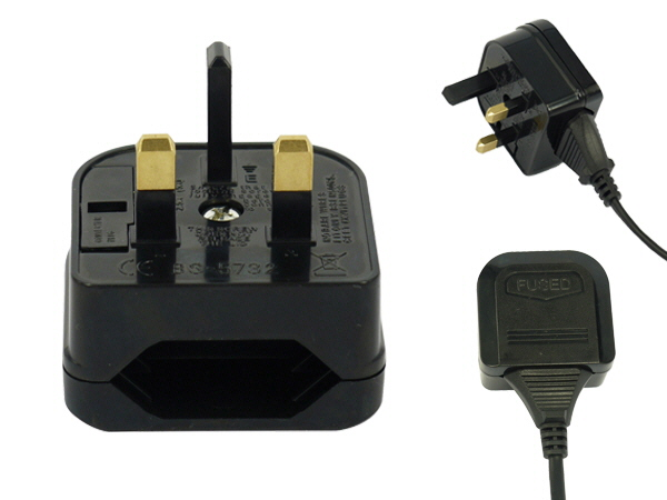 European 2 Pin To UK 3 Pin Adapter