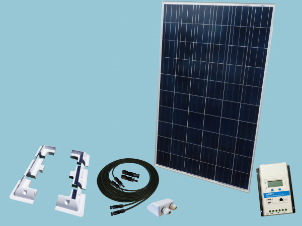 275W Rigid Solar Narrowboat  Kit 12V or 24V