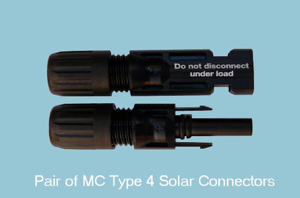 4mm - Black/Red Solar Cable & Connectors