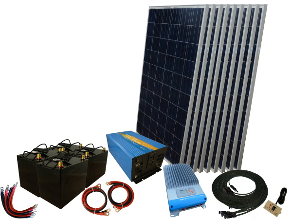 2475W - 48V Off Grid Solar Kit & 3000W Power Inverter