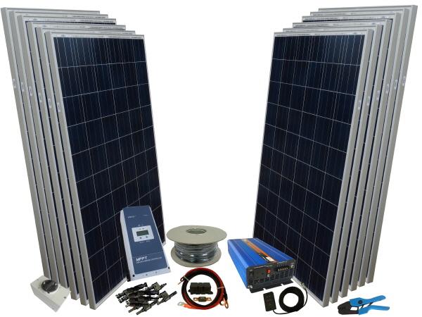 2500W - 24V Off Grid Solar Kit & 3000W Power Inverter