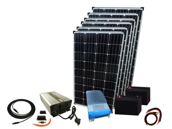 780W - 12V  Solar Backup System & 2000W Inverter Charger