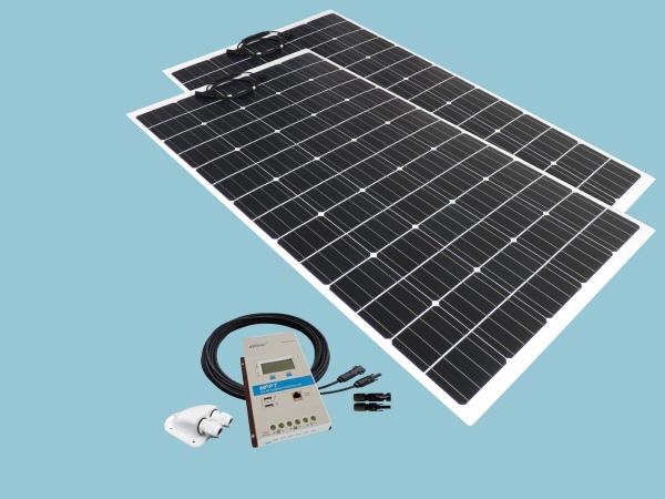 400W Flexible ETFE Solar Narrowboat Kit 12V or 24V