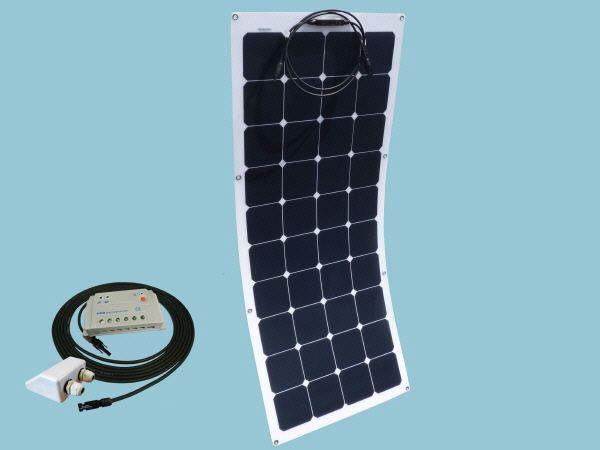 120W Sunshine Flexible Solar Caravan Motorhome & Boat Kit