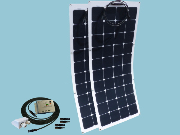 240W Flexible Solar Narrowboat  Kit 12V or 24V