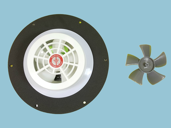 2 x Solar Vent or Fan, Day & Night Operation - Low Profile