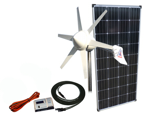 Sunshine Solar & Wind Power Kit 305W - 12V