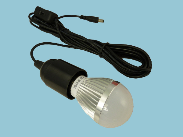 3W -12V LED Light Bulb & Lead