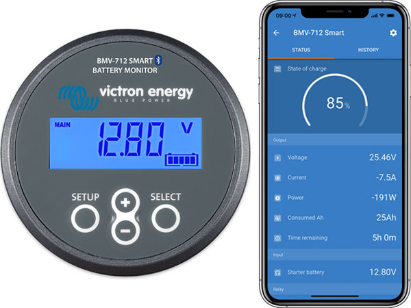 Victron Energy BMV-712 Smart Battery Monitor - Bluetooth Connection