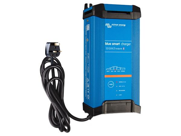 Blue Smart IP22 Charger 12V/20A - 3 Outputs - UK Plug