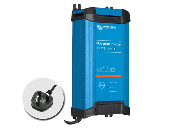 Blue Smart IP22 Charger 12V/30A - 3 Output - UK Plug