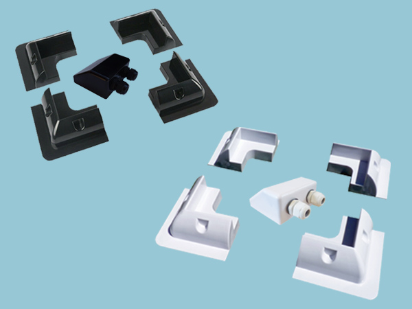 Sunshine ABS Solar Corner Mounts & Cable Entry Cover