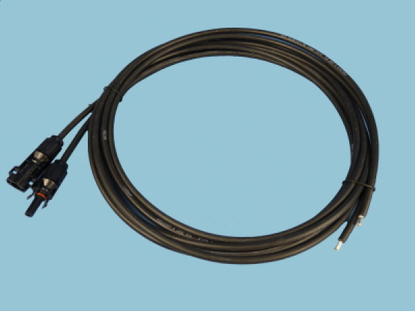 6mm - Black Solar Cable & Connectors