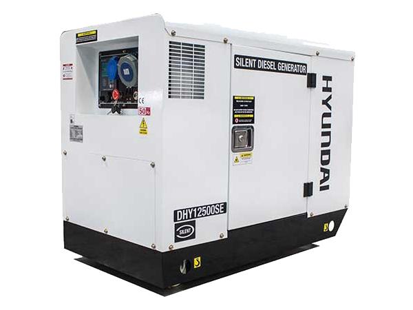 Hyundai DHY12500SE10kW/12.5kVA 230v Mains Standby Diesel Generator