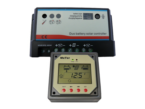 Dual 20A - 12/24V Battery Controller & Meter