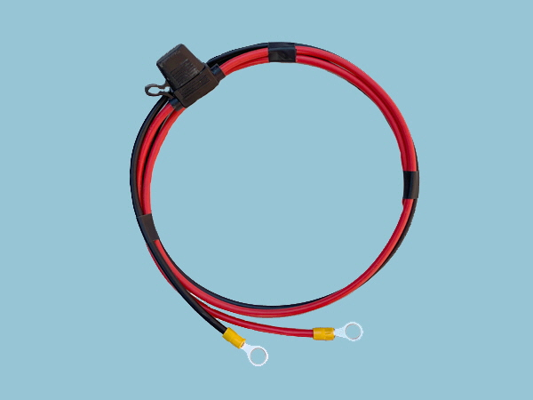 4mm SQ - Battery to Controller Cables & Fuse Kit - 10,20A