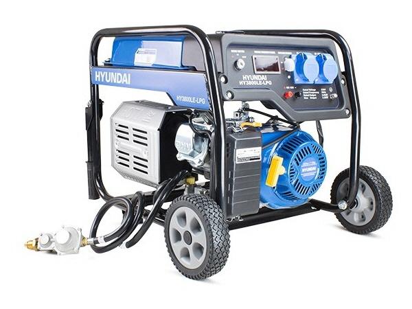 Hyundai HY3800LE-LPG 3.2kW / 4.00kVa* Electric Start Dual Fuel Site Petrol Generator