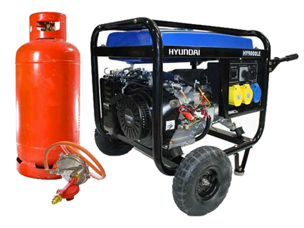 Hyundai 6.6kW Electric Start Dual Fuel Petrol/LPG Generator HY9000LEK-LPG