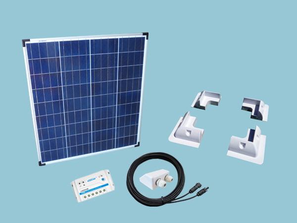 80W Poly Sunshine Solar Caravan Motorhome & Boat Kit
