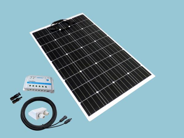 120W Sunshine Flexible Solar Caravan Motorhome & Boat Kit