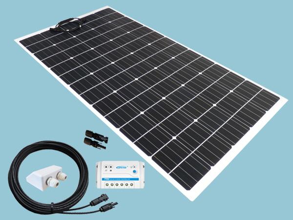 150W Sunshine Flexible Solar Caravan Motorhome & Boat Kit