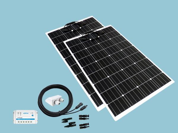 240W Sunshine Flexible Solar Caravan Motorhome & Boat Kit