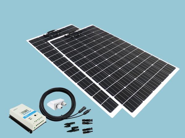 320W Sunshine Flexible Solar Caravan Motorhome & Boat Kit