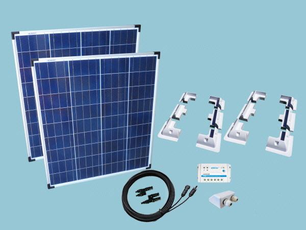 160W Poly - Sunshine Solar Caravan Motorhome & Boat Kit