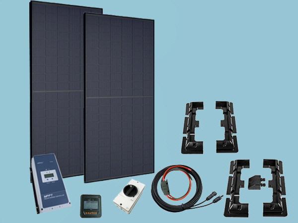 660W All Black Solar PERC Cell - Pro Kit 12V/24V