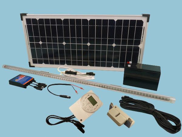 Solar Hen House Lighting Kit 1