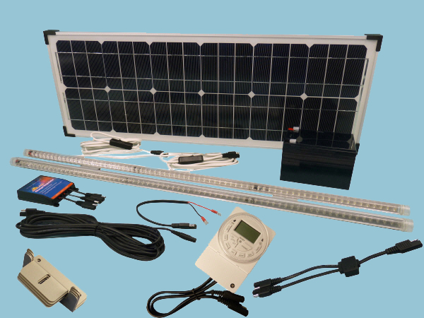 Solar Hen House Lighting Kit 2