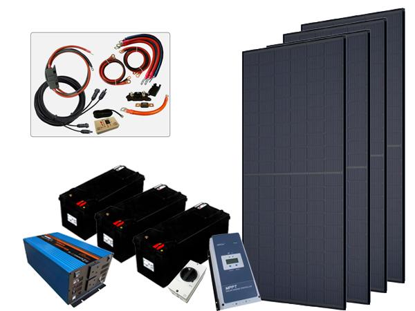 1320W - 12V Off Grid Solar Kit - 3000W Power Inverter