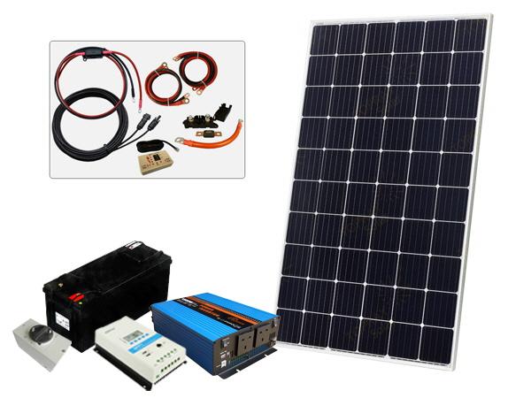 305W - 12V Off Grid Solar Kit - 1500W Power Inverter