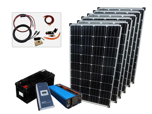 780W - 12V Off Grid Solar Kit - 1200W Power Inverter