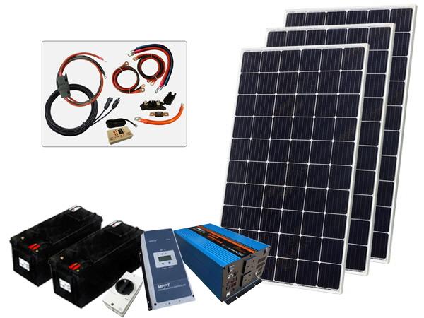 915W - 12V Off Grid Solar Kit - 3000W Power Inverter