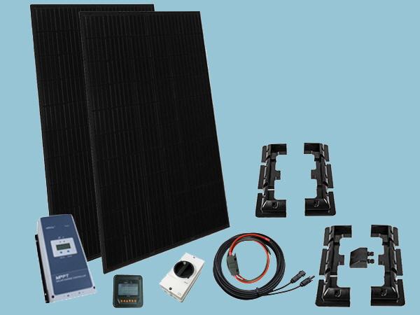 660W All Black Solar Kit - 12V or 24v