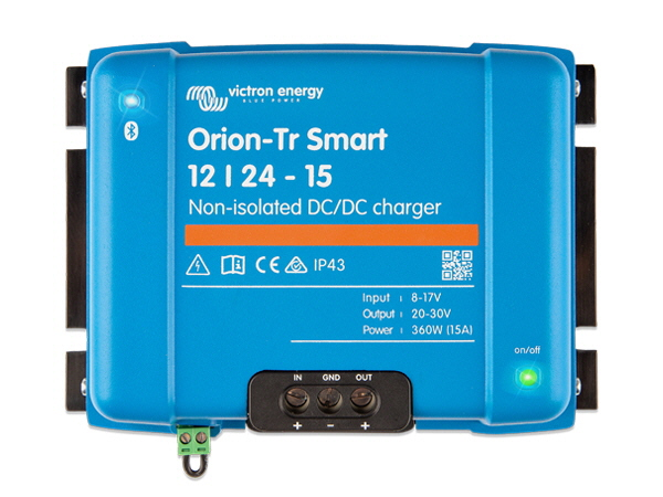 Orion-Tr Smart 12/24V-15A Non-Isolated DC-DC Charger