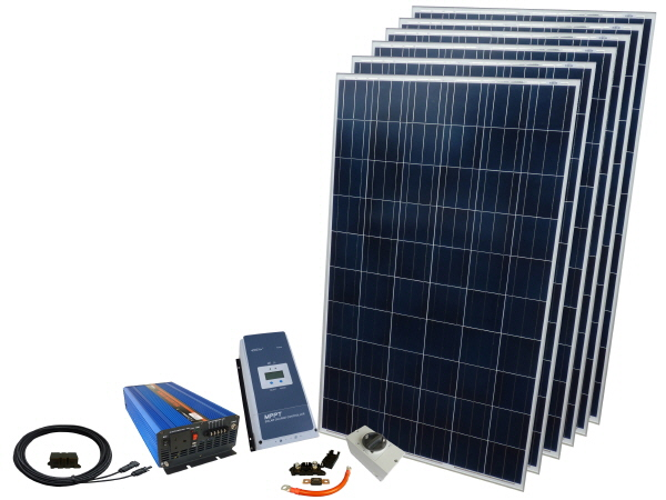 1680W - 12V Off Grid Solar Kit & 3000W Power Inverter