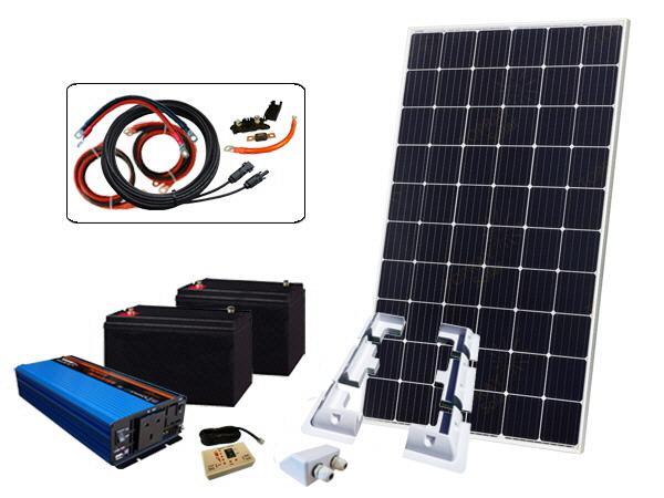 305W - 24V Off Grid Solar Kit & 1000W Power Inverter