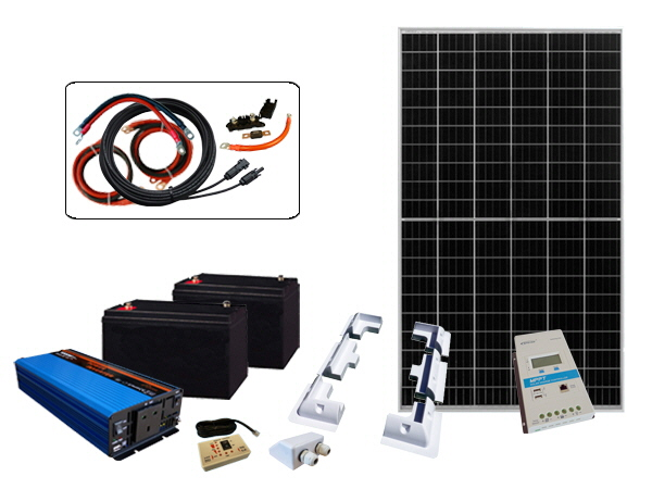 335W - 24V Off Grid Solar Kit & 1000W Power Inverter