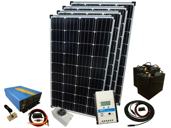 520W - 24V Off Grid Solar Kit & 1500W Power Inverter