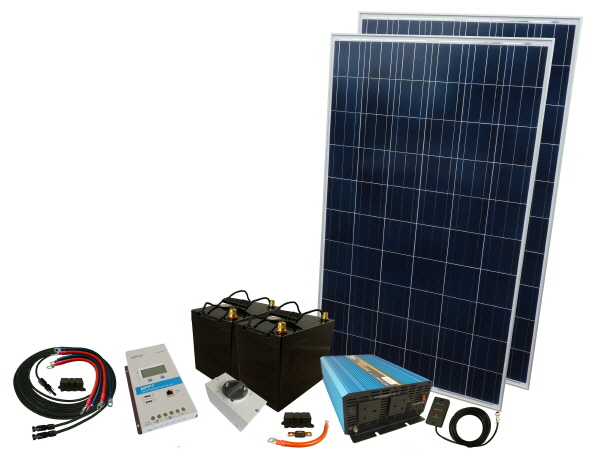 550W - 12V Off Grid Solar Kit & 1500W Power Inverter