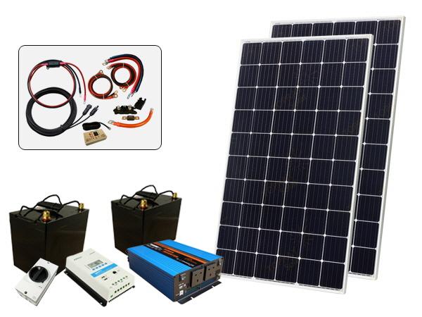 610W - 12V Off Grid Solar Kit - 1500W Power Inverter