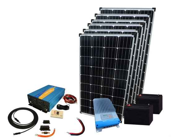 780W - 12V Off Grid Solar Kit & 2000W Power Inverter