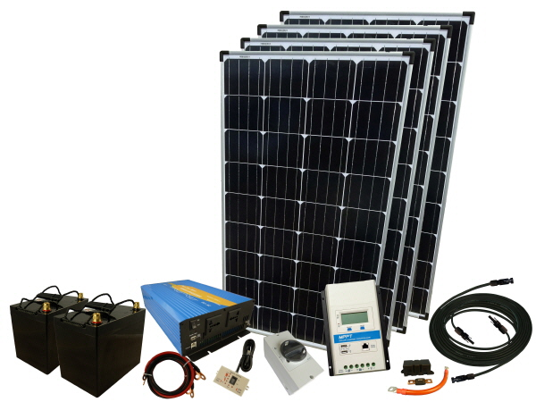 780W - 24V Off Grid Solar Kit & 2000W Power Inverter