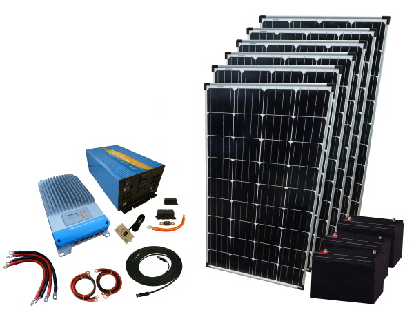 720W - 12V Off Grid Solar Kit & 3000W Power Inverter