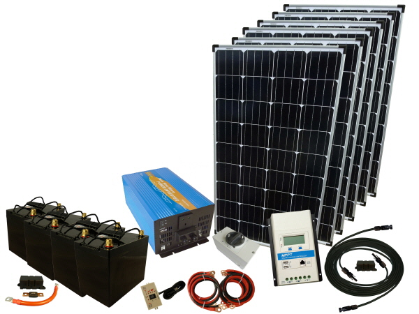 720W - 24V Off Grid Solar Kit & 4000W Power Inverter