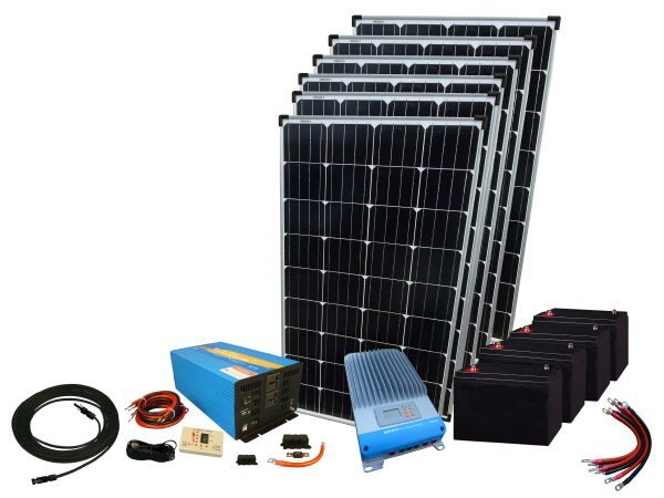 720W - 12V Off Grid Solar Kit & 4000W Power Inverter