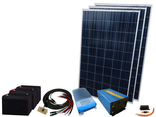 825W - 12V Off Grid Solar Kit & 3000W Power Inverter