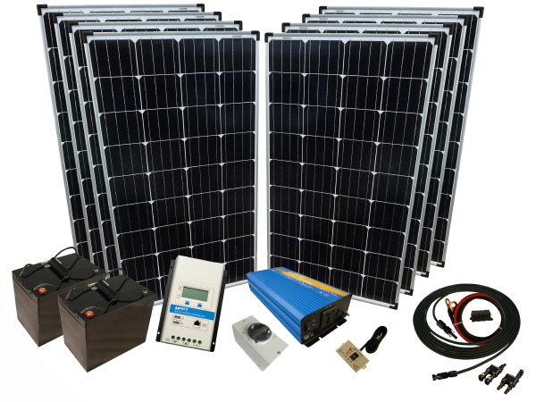 960W - 24V Off Grid Solar Kit & 1000W Power Inverter